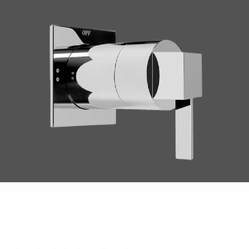 Graff Qubic Tre Polished Chrome 1/2 Concealed Diverter with 2 Outlets - Exposed Parts
