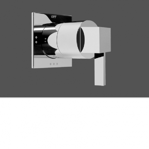"""Graff Qubic Tre Polished Chrome Concealed Diverter with 3 Outlets For Concealed Shower Mixers 1/2"""" - Exposed Parts"""