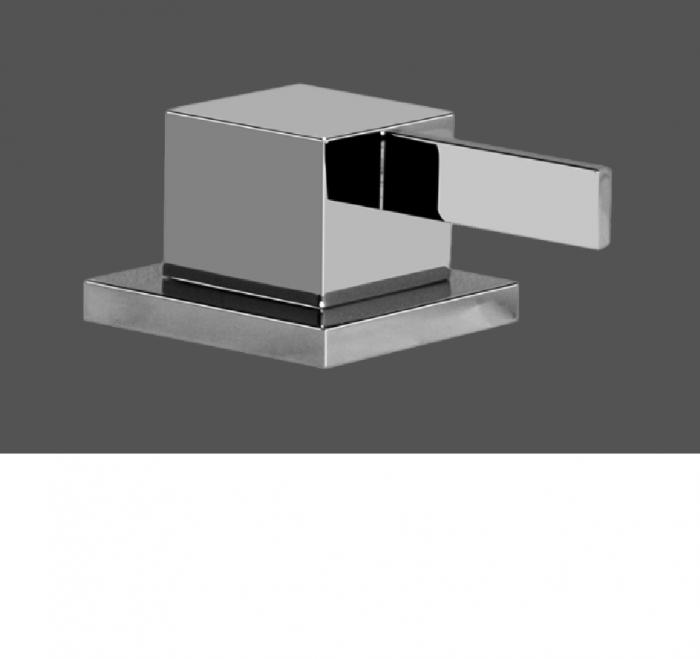 Graff Qubic Tre Polished Chrome Deck Mounted Bathtub Valve - Clockwise Opening
