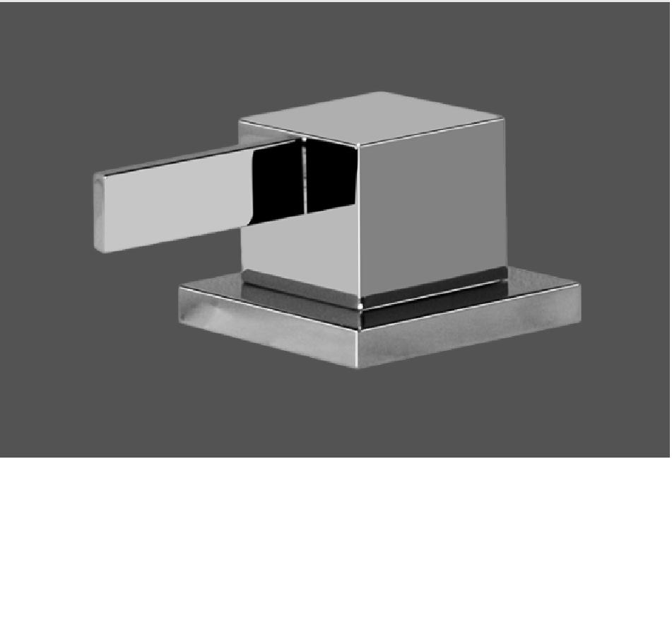 Graff Qubic Tre Polished Chrome Deck Mounted Bathtub Valve - Counter Clockwise Opening