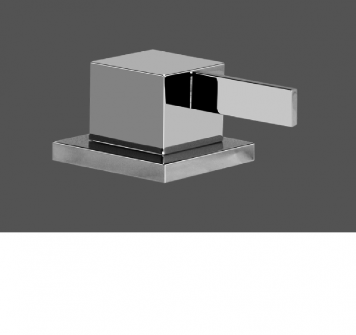 Graff Qubic Tre Polished Chrome Deck Mounted Bathtub Diverter