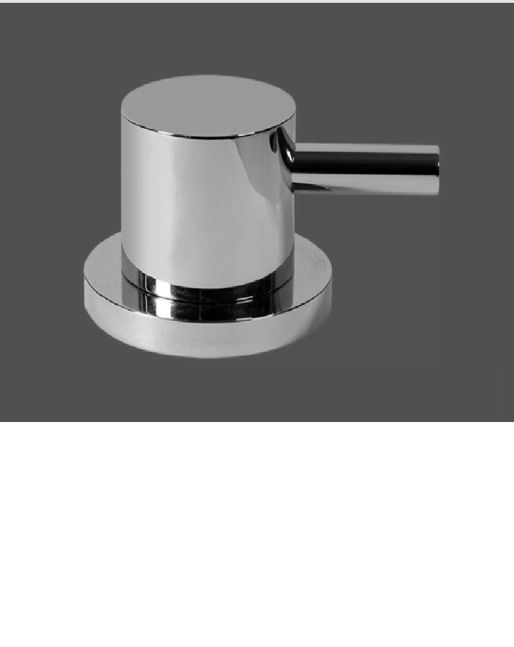 Graff ME25 Polished Chrome Deck Mounted Bathtub Valve - Clockwise Opening