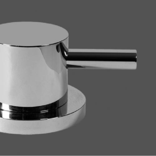 Graff ME25 Polished Chrome Deck Mounted Basin Valve - Clockwise Opening