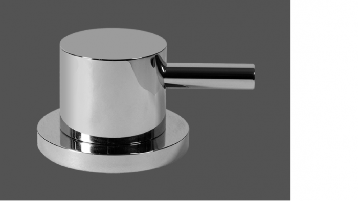 Graff ME25 Polished Chrome Deck Mounted Basin Valve - Clockwise Opening
