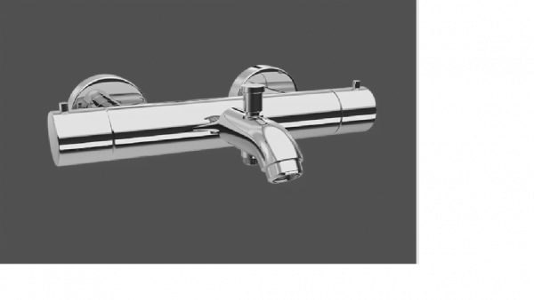 Graff ME25 Polished Chrome Wall Mounted Thermostatic Bath Mixer