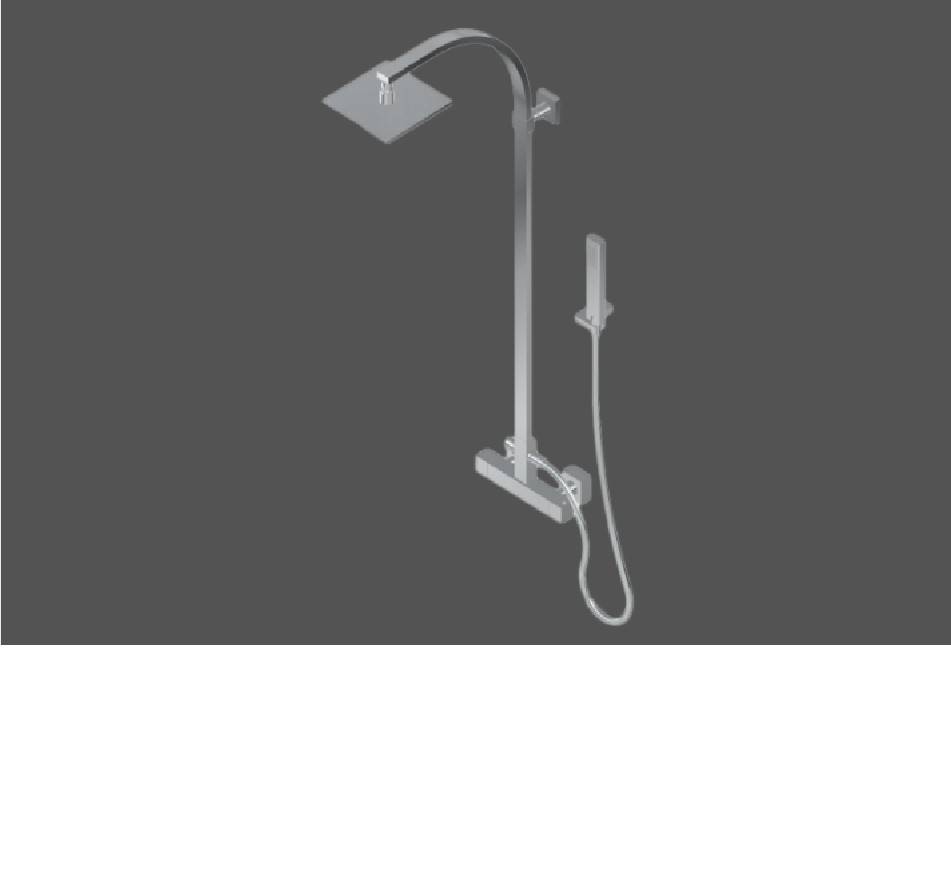 Graff Qubic Tre Polished Chrome Wall Mounted Thermostatic Shower Column