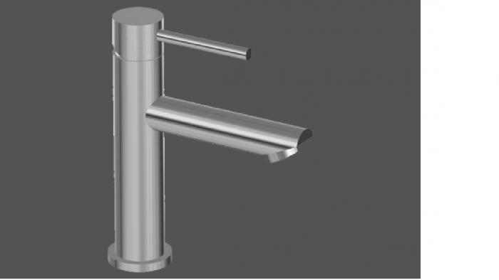 Graff ME25 Polished Chrome Single Lever Basin Mixer 12cm Spout No Waste