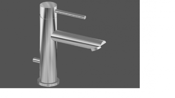 Graff ME25 Polished Chrome Single Lever Basin Mixer 12cm Spout with Pop Up Waste