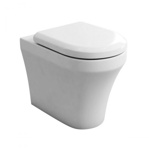 Britton S40 Back To Wall WC Pan & Soft Close Seat