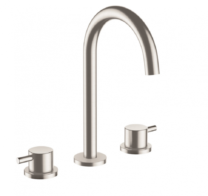 Just Taps Plus Inox IX193 Stainless Steel 3 Hole Deck Basin Tap