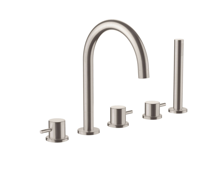 Just Taps Plus Inox Stainless Steel 5 Hole Bath Shower Mixer