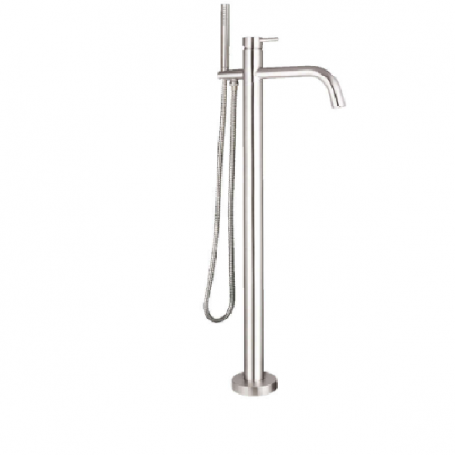 Just Taps Plus Inox IX534 Steel Floor Bath Shower Mixer