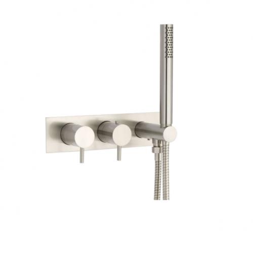 JTP Inox IX5868 Stainless Steel Wall Mounted Bath Shower Mixer
