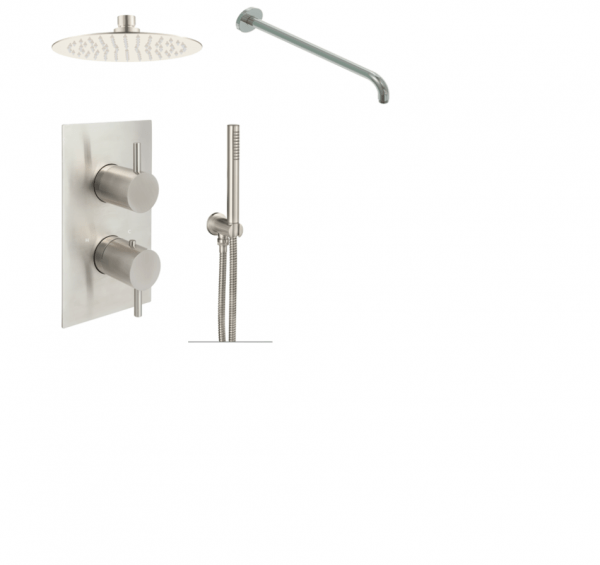 Buy Stainless Steel Showering Package 2 Outlet Inox Shower Valve