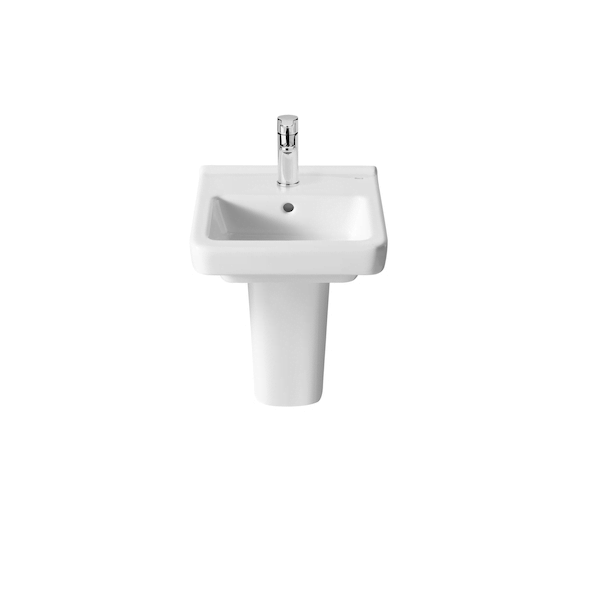 Roca Dama-N Compact 350x320mm 1 Tap Hole Wall Mounted Basin-0