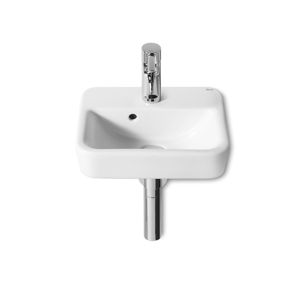 Roca Senso Square Cloakroom 350 x 285mm 1 tap hole basin-0