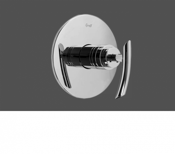 "Graff Tranquility Polished Chrome 1/2"" Concealed Thermostatic Valve - Exposed Parts"