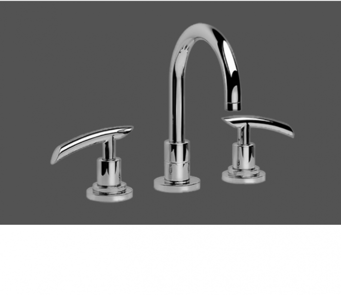 Graff Tranquility Polished Chrome Three Hole Washbasin Mixer