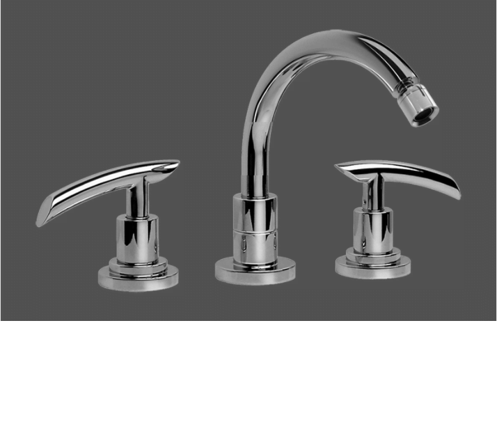 Graff Tranquility Polished Chrome Three Hole Bidet Mixer