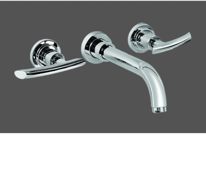 Graff Tranquility Polished Chrome Wall Mounted Basin Mixer with 23.5cm Spout