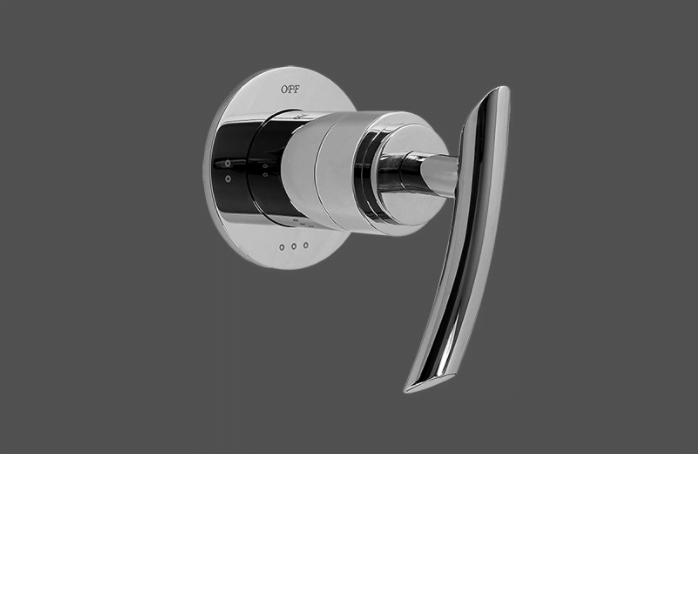 "Graff Tranquility Polished Chrome 1/2"" Concealed Diverter with 3 Outlets - Exposed Parts"