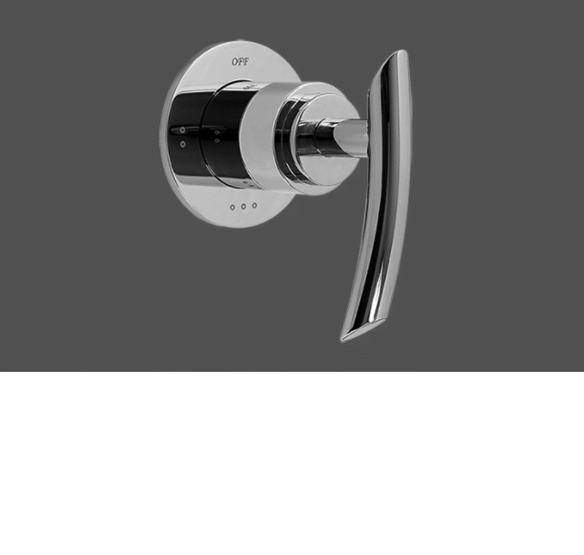 "Graff Tranquility Polished Chrome 1/2"" Concealed Diverter with 3 Outlets for Concealed Shower Mixers - Exposed Parts"