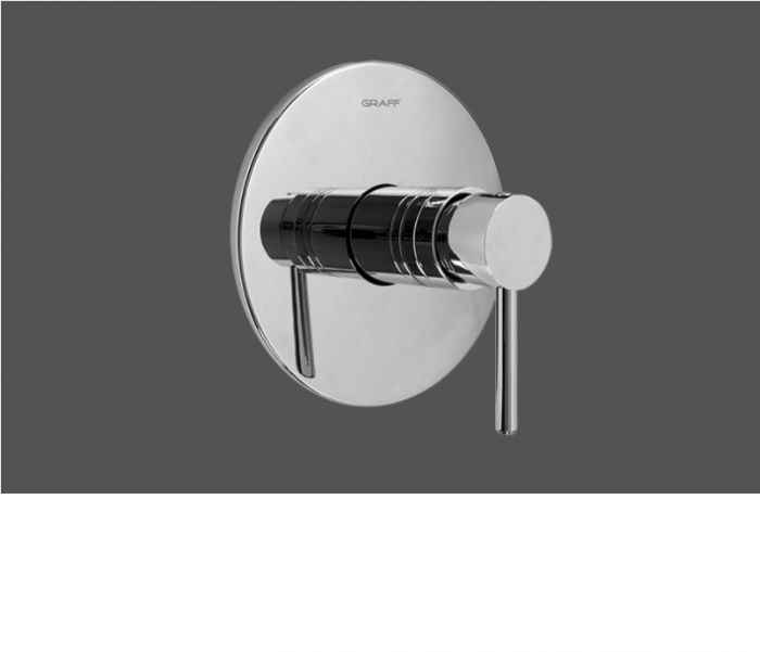 """Graff ME25 Polished Chrome 1/2"""" Concealed Thermostatic Valve - Exposed Parts"""