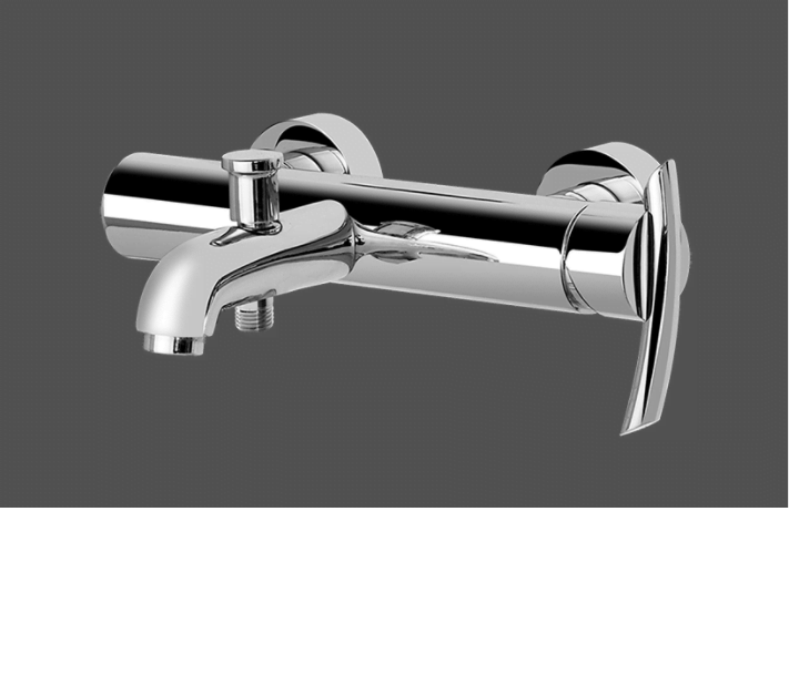 Graff Tranquility Polished Chrome Wall Mounted Bath & Shower Mixer