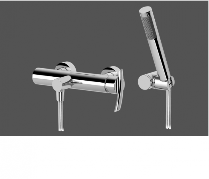 Graff Tranquility Polished Chrome Wall Mounted Shower Mixer with Handshower Set