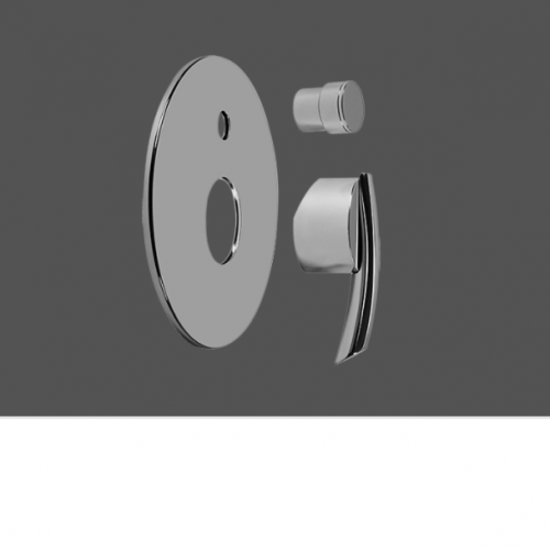"""Graff Tranquility Polished Chrome Concealed Shower Mixer with Diverter 1/2"""" - Exposed Parts"""