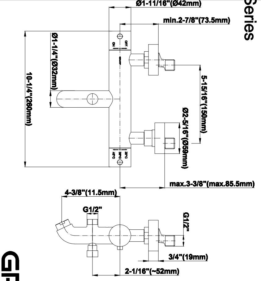 dimensional diagram