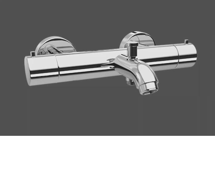 Graff Tranquility Polished Chrome Wall Mounted Thermostatic Bath Mixer