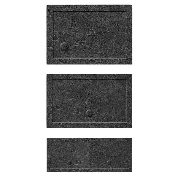 Simpsons 35mm 1000x800mm Rectangular Slate Grey Acrylic Tray-19974