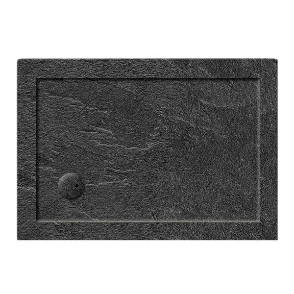 Simpsons 35mm 1000x800mm Rectangular Slate Grey Acrylic Tray-0