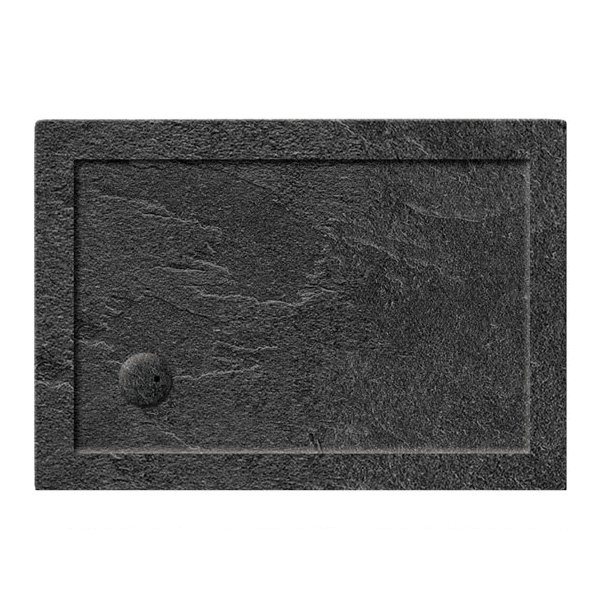 Simpsons 35mm 1000x900mm Rectangular Slate Grey Acrylic Tray-0
