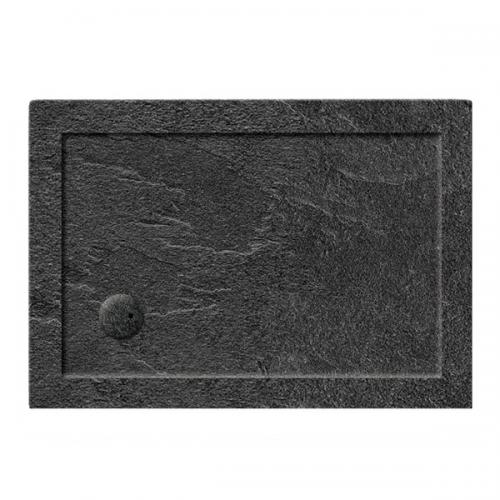 Crosswater 35mm 1400x800mm Rectangular Slate Grey Acrylic Tray-0