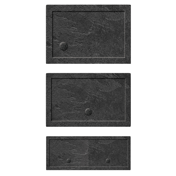 Simpsons 35mm 1200x900mm Rectangular Slate Grey Acrylic Tray-19980