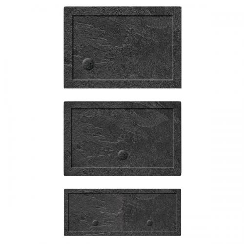 Crosswater 35mm 1400x800mm Rectangular Slate Grey Acrylic Tray-19983