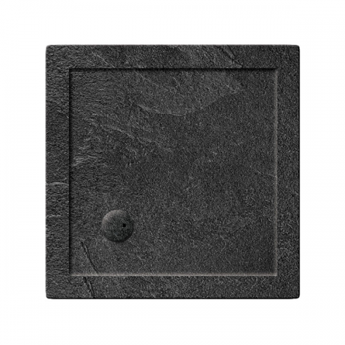 Crosswater 35mm 800x800mm Square Slate Grey Acrylic Shower Tray-0