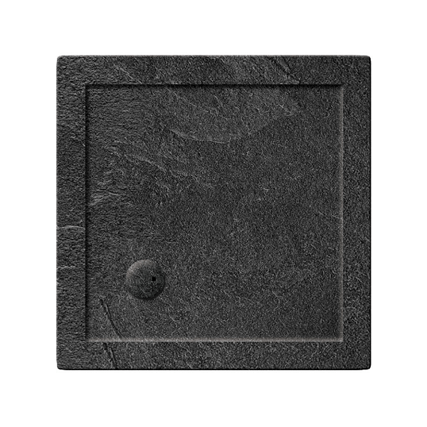Simpsons 35mm 800x800mm Square Slate Grey Acrylic Shower Tray-0