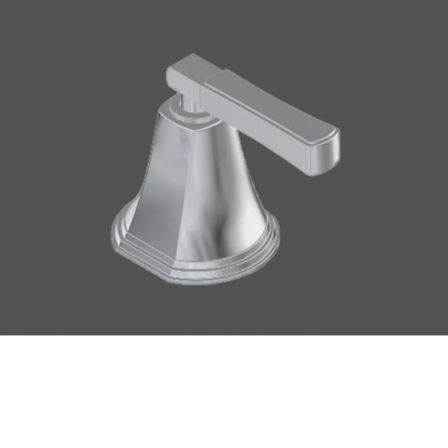 Graff Finezza Uno Polished Chrome American Made Deck Mounted Bathtub Valve - Counter Clockwise