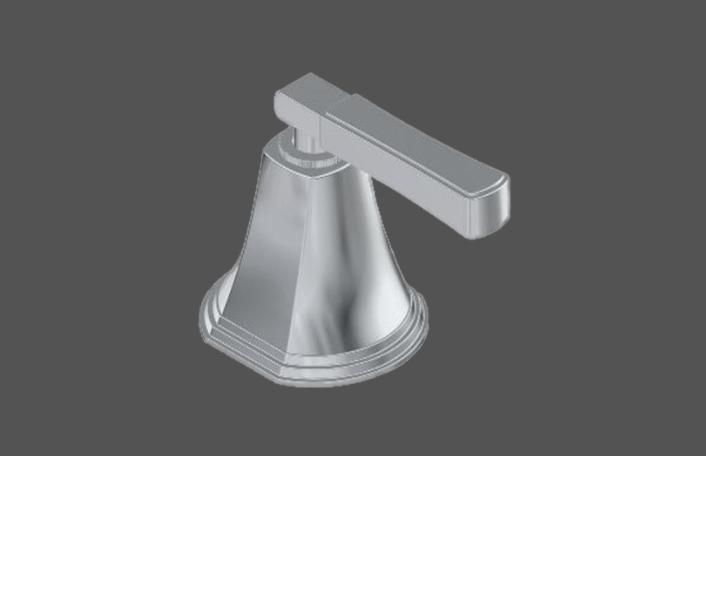 Graff Finezza Uno Polished Chrome American Made Deck Mounted Bathtub Valve - Counter Clockwise