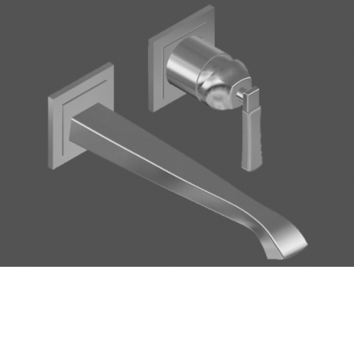 Graff Finezza Uno Polished Chrome Wall Mounted Basin Mixer with 23.5cm Spout - exposed parts
