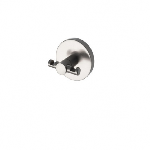 Aqualux Pro 2500 Double Robe Hook in Matt Stainless Steel