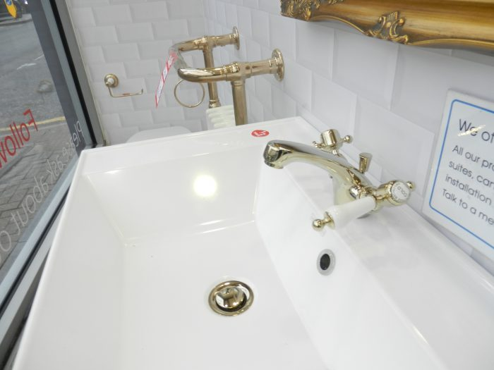 Ex Display Heritage Suite in Gold Toilet Basin Heated Towel Rail etc-19545