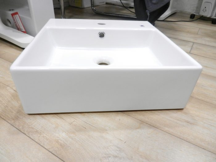 buy Italian Made Square Basin 46 x 46cm 1 Tap Hole