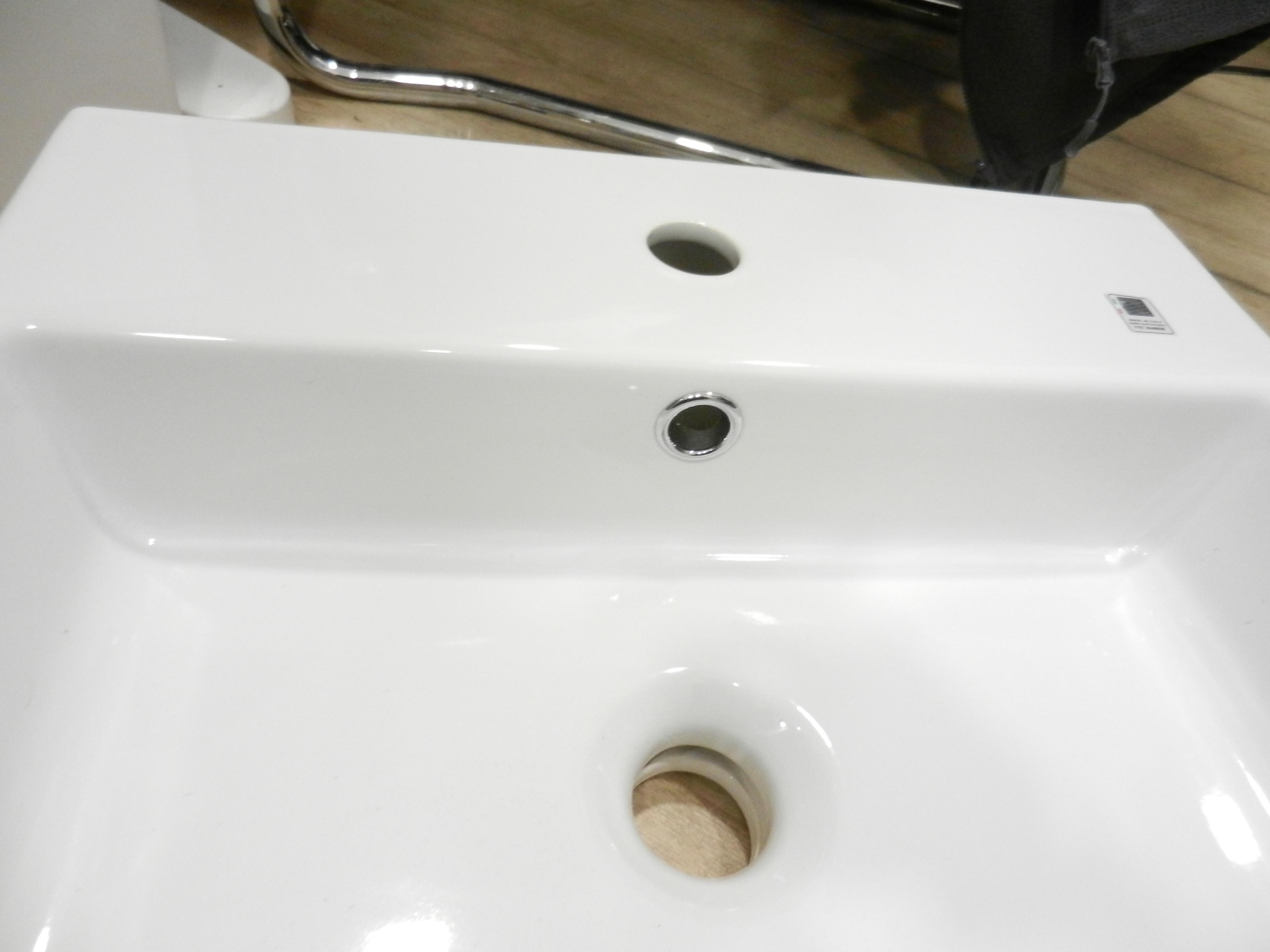 Italian Made Square Basin 46cm x 46cm 1 Tap Hole