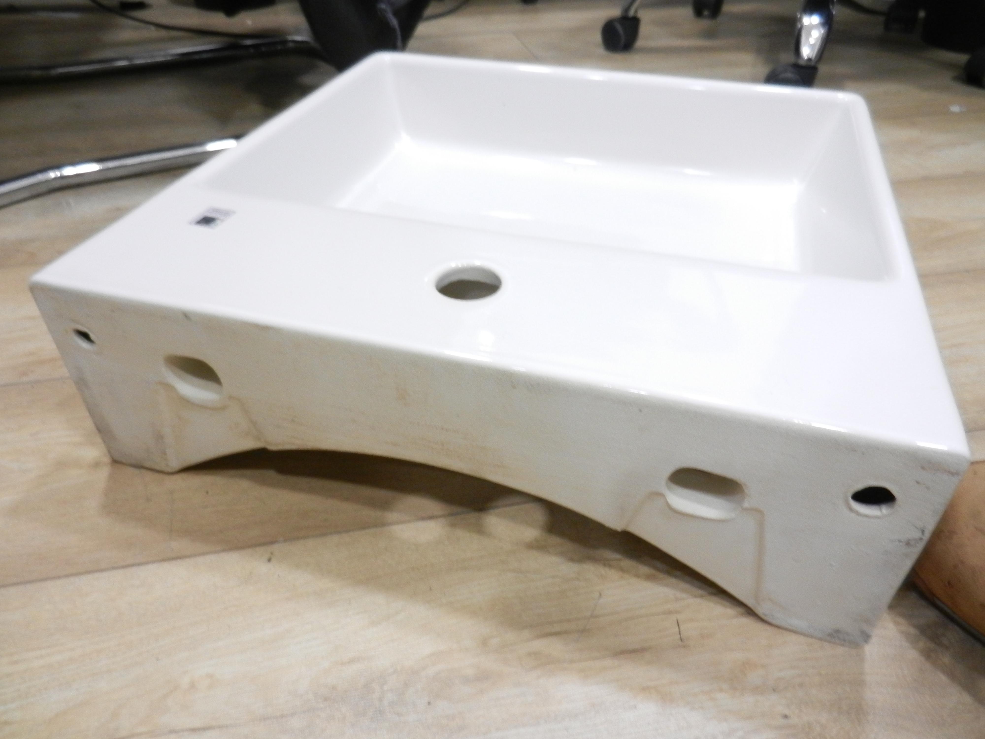 Italian Made Square Basin 46 x 46cm 1 Tap Hole