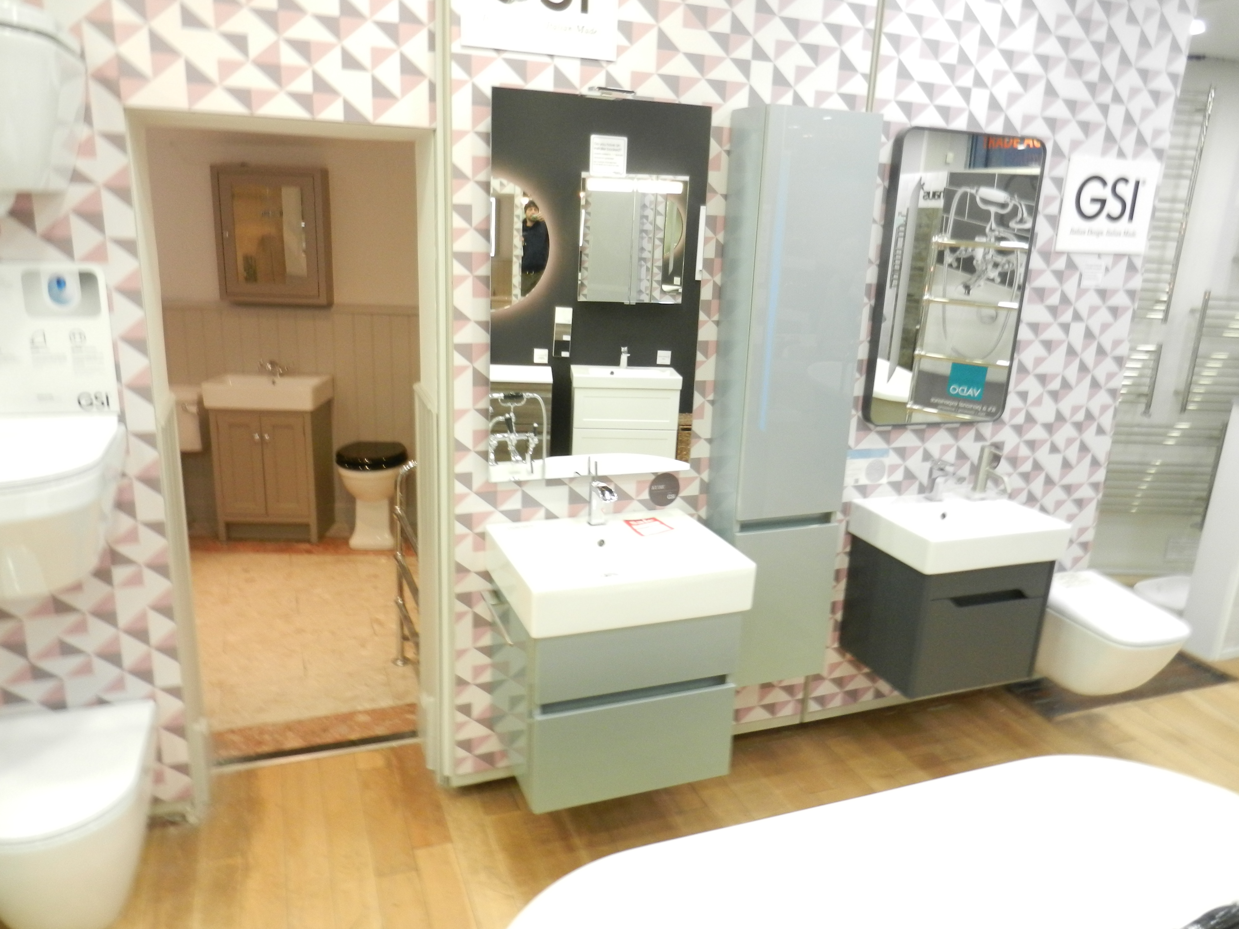 Ex Display GSI Kube 60cm Basin and Blue Unit inc tap and tall unit-0