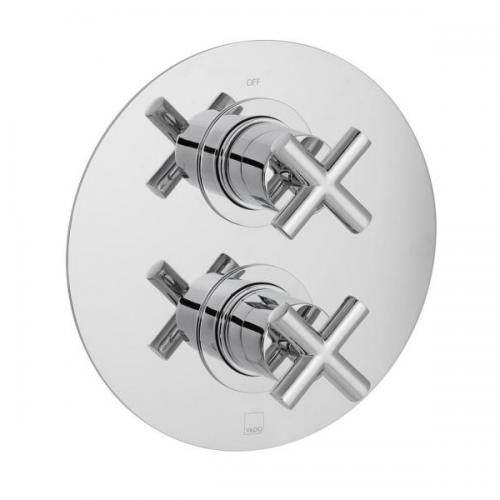 Vado Elements 1 Outlet 2 Handle Concealed Thermostatic Shower Valve-0